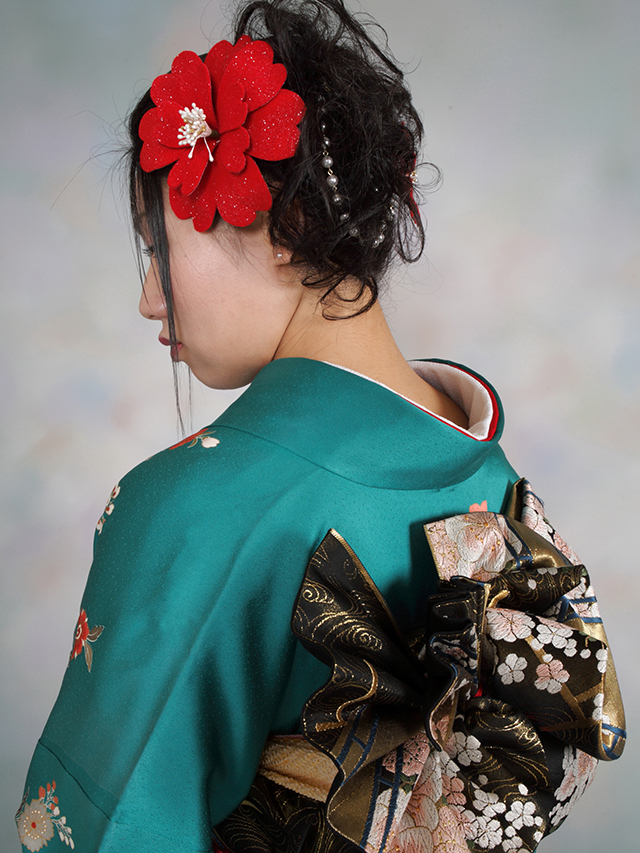 振袖の着付け2012年 拡大画像-4