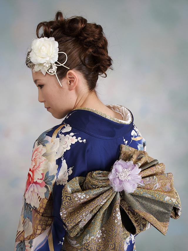 振袖の着付け2012年 拡大画像-9