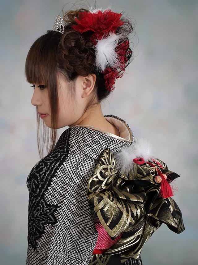 振袖の着付け2012年 拡大画像-19