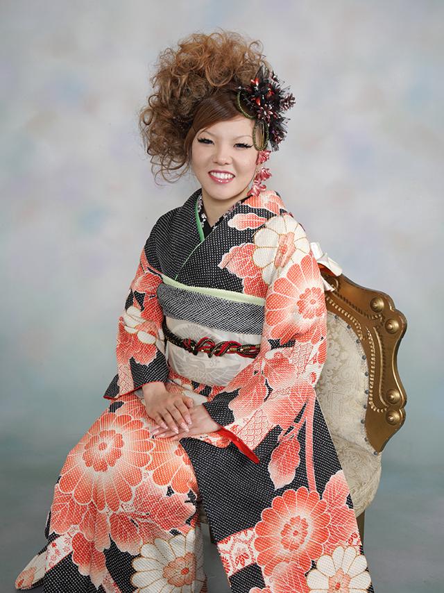 振袖の着付け2012年 拡大画像-24