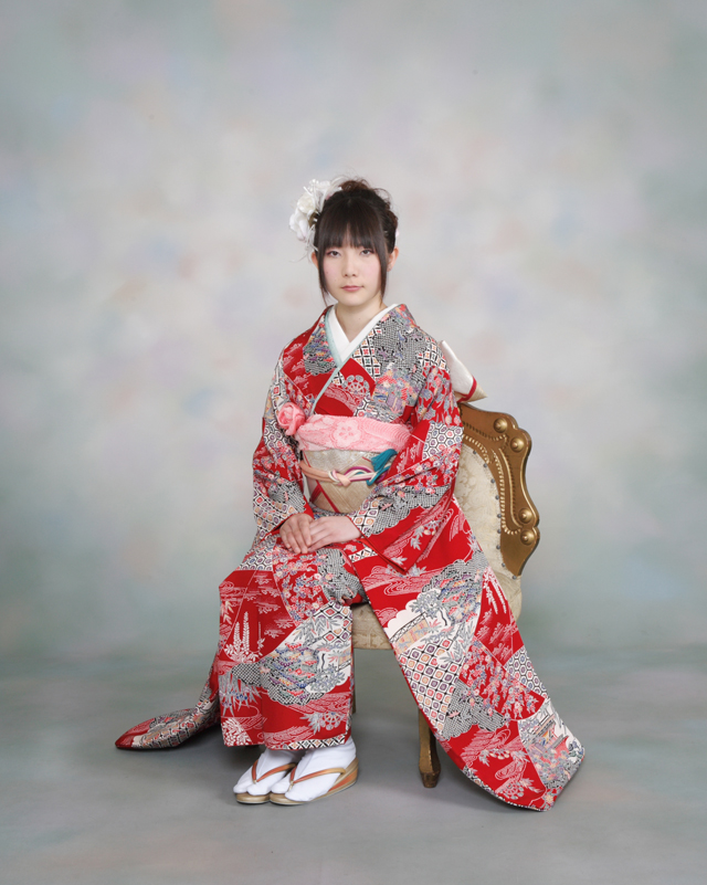 振袖の着付け2011年 拡大画像-7